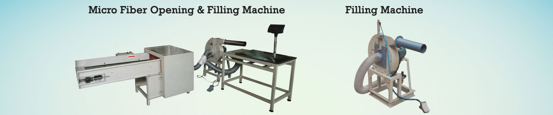 Micro Fibre Opening and Filling Machine